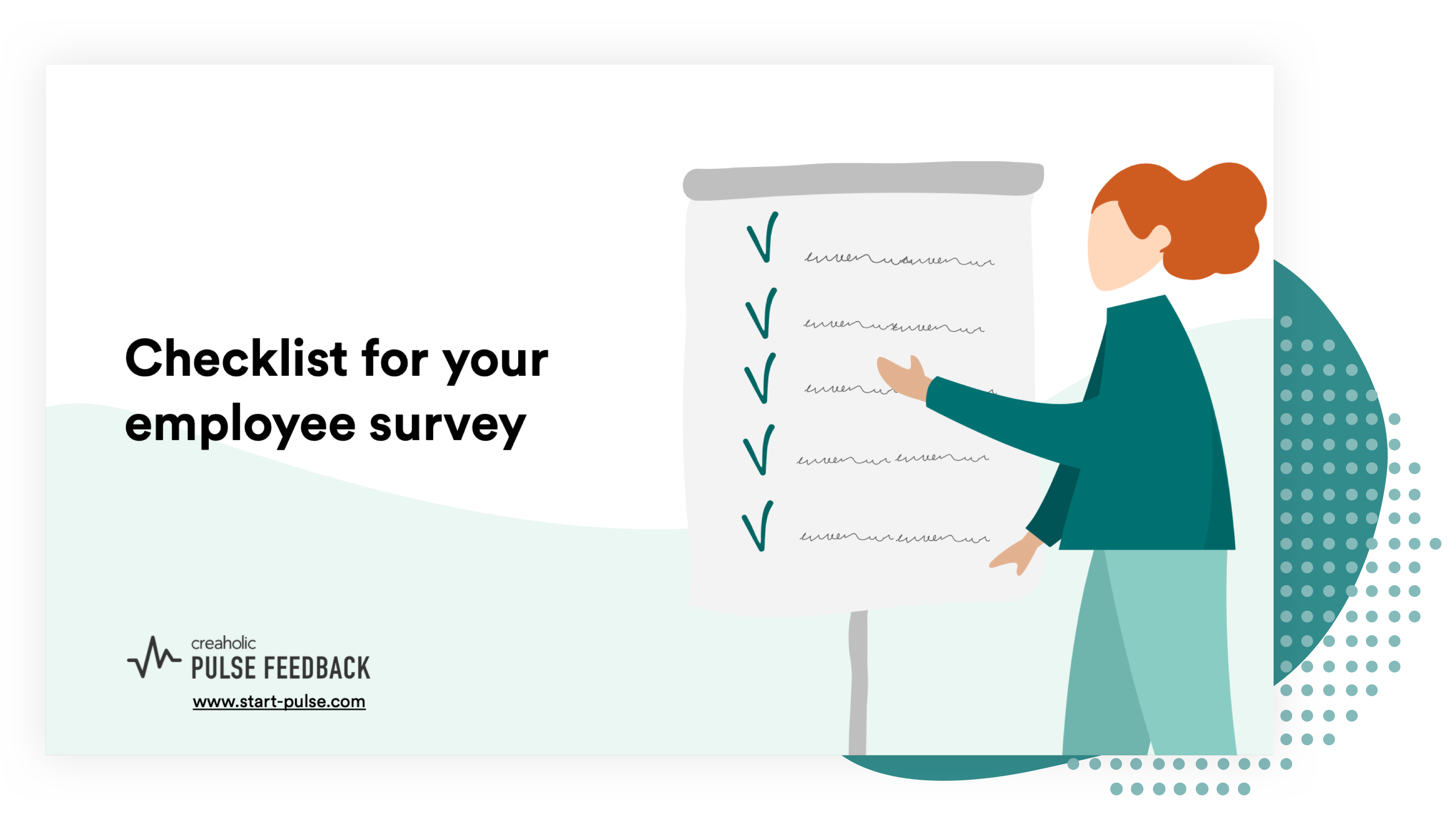 Preview of the checklist for an employee survey